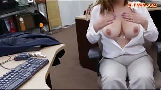 Foxy business lady twat fucked real hard by horny pawn guy