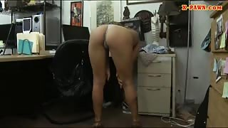 Sexy babe in glasses fucked by pawn guy at the pawnshop
