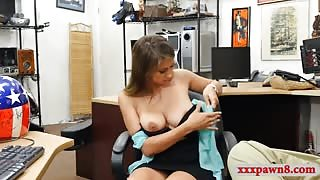 Busty babe drilled by pervert pawn dude at the pawnshop