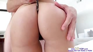 Latina beauty Blis Dulce gets her ass and pussy in a wet and oily fuck
