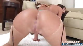 Insanely hot August Ames teases with her big ass then fucked