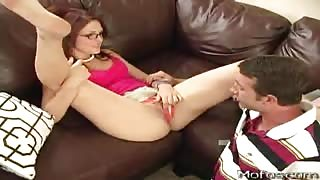 Slim Teen Pounded Over Couch
