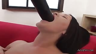 MILF Karla Fists Her Ass And Dildo Fucks Her Pussy