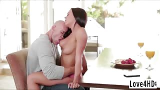 Hot Rahyndee gets her juicy and wet pussy fucked from behind