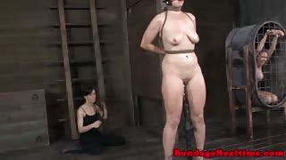 Gagged sub spanked by doms