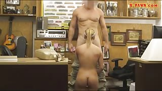 Perky tits blondie banged by pawn dude at the pawnshop