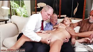 Old goes young threesome Frankie And The Gang Tag Team A Door To Door