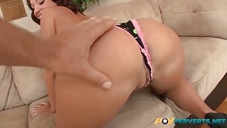 Jada Stevens spreading her pussy and ass