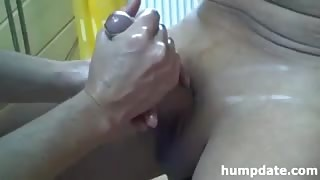 Oiled Hands Give Handjob To Manhood