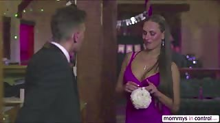 Dick lover bridesmaids Mea and  Milf Cathy gets fuck hard in threesome sex