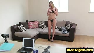 Casted british babe grinding agent cock