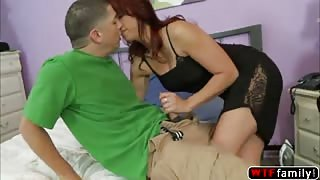 Gorgeous redhead Nicki Hunter wanna fucked his stepson Alex Gonz