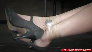 Restrained sub skank learns discipline by maledom