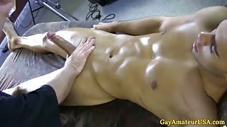 Straight guys gay massage handjob