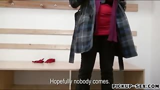 Eurobabe Angel Wicky anal fucked in skating rink for cash