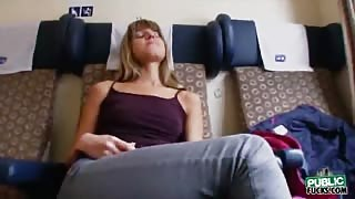 Amateur Gina Gerson pounded in a train