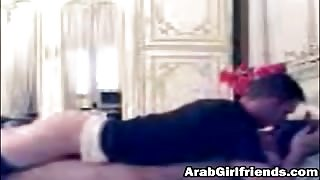 Amateur Arab girlfriend fucking homemade on bed