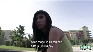 Babe Mona is offered a modeling contract and it turned into a sex for a couple of bucks