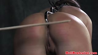 Bounded bdsm skank with anal hook smacked and bastinado