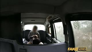 Sam and her nice tits gets fucked hard in the backseat