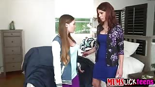 Sexy teen SKye West gets fucked by her horny stepmum