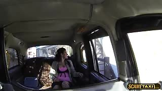 Tattooed girl goes missionary position with the hot driver