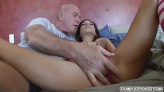 Horny chick Trinity St Clair getting a hard dick