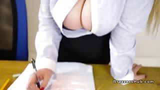 Huge tits professor bangs huge dick in classroom