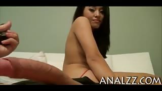 Nasty asian girlfriend tries out anal fucking in doggystyle