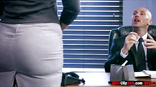 New Girl has huge boobs in the office