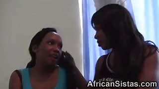 African lesbians stripping and licking juicy muffs