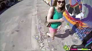 This fine ass Molly Jane gets fight with her guy and got kicked out of his ride right in the middle of the street. A stranger walks by and noticed she had some big ass titties. He asked her if she wanted to make some quick cash for a ride home.  In return