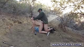 Kayla West was caught lusty patrool during border crossing