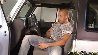 Austin wilde sprays car