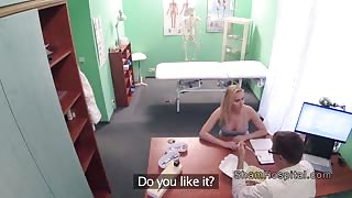 Doctor with cam fucks busty blonde pov