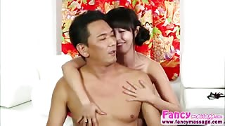 Hot asian Marica Hase gets fucked by Takuo after removing his pain
