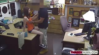 Absolutely beautiful hot girl gets nailed by a perverted store owner