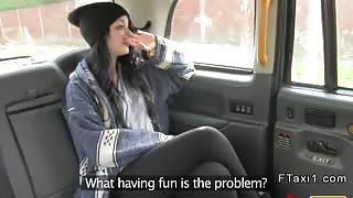 Babe second time fucking in fake taxi