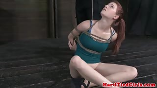 Nipple pierced bdsm sub smacked around