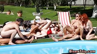 Bisex group orgy fucking