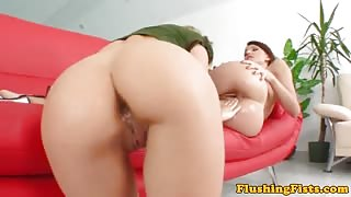 Fisting fetish Playful Anne fist fucks Angelica