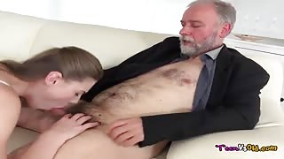 Ilona Makes Her Senior Lover Eat Her Young Fresh Pussy