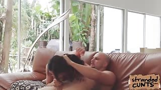 Lucky dude was able to finger and play on Brittanys shaved pussy