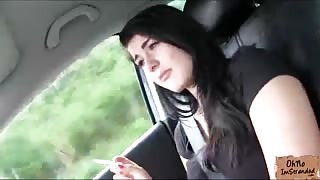 Super beautiful Anna gets stranded and picked up and fucked along the way