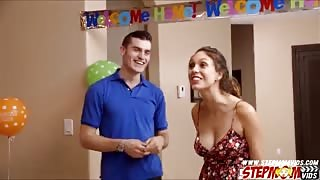 Jade Nile shares her bfs cock to stepmom on her birthday