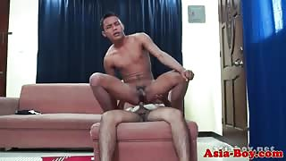 Young oriental twink amateurs anal fuck