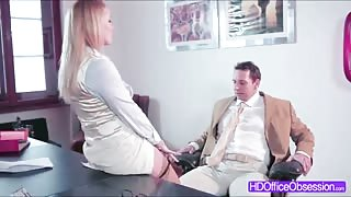 Hot MILF Kathia Nobili gets fucked hard in the office by a lucky guy