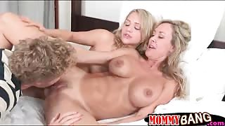 Brandi Love threesome with Mia Malkova with horny BF