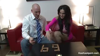 Amy Anderssen gets fucked on a white bed