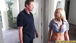 Richies cock suck by Summer Day deep in her throat
